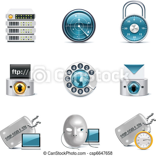 Internet and network icons. P.3 - csp6647658