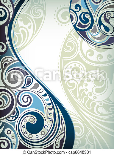 Blue Curve Abstract - csp6648301