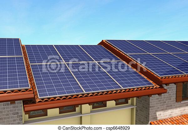solar panels - csp6648929