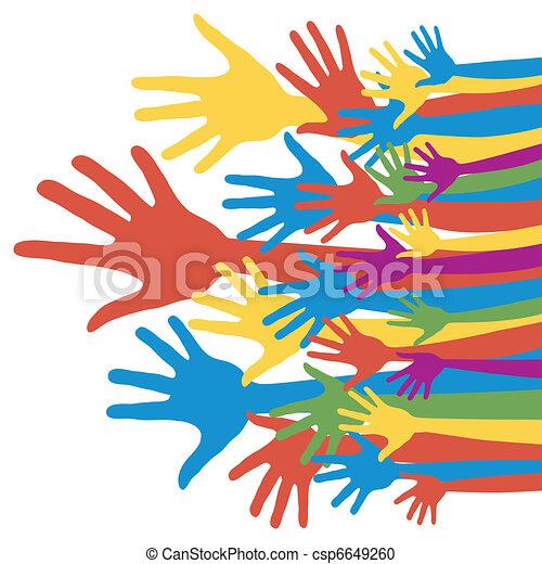 General election voting hands. - csp6649260