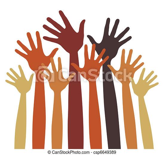 Many happy hands vector. - csp6649389