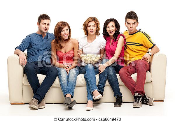 television gathering - csp6649478