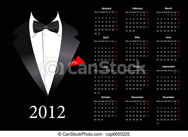 Vector European calendar 2012  - csp6650225