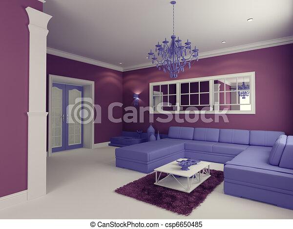 living room - csp6650485