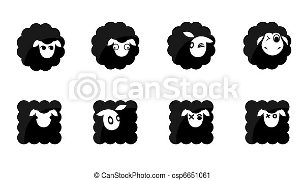 black sheep icons - csp6651061