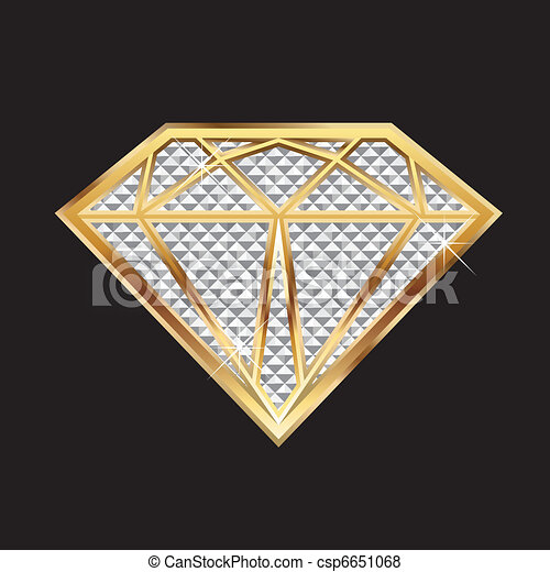 Diamond bling bling - csp6651068