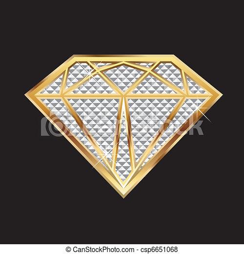 M Letter In Diamond Vector of Diamond blin...