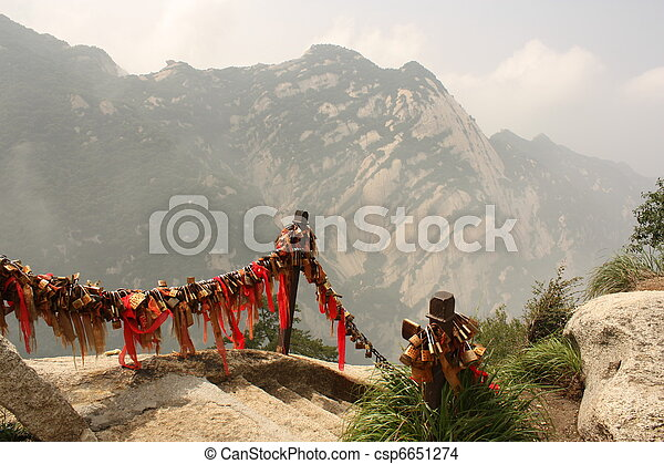 Path at Huashang Mountain in China - csp6651274