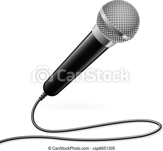 Microphone for Karaoke - csp6651305
