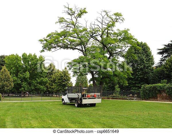 Gardener's truck - csp6651649