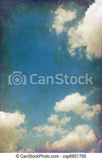 vintage cloudy sky - csp6651765