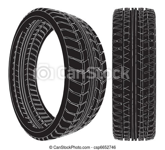 Car Wheel Tire - csp6652746