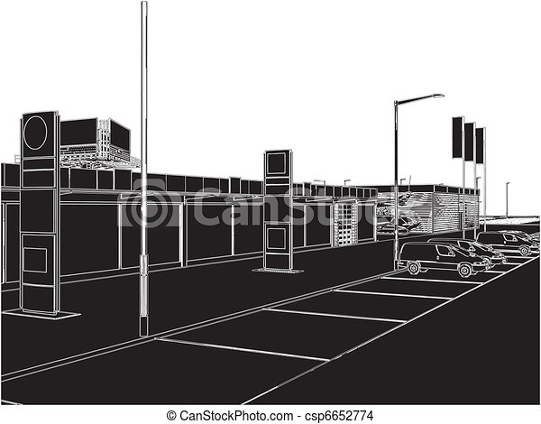 Car And Yacht Dealership Building - csp6652774