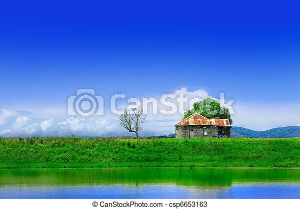 Lone shack - csp6653163