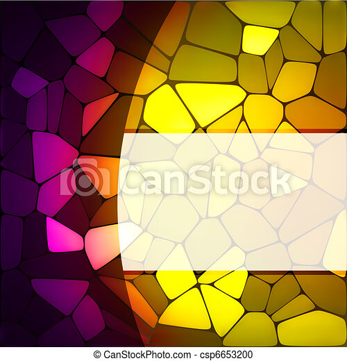 Stained glass design template. EPS 8 - csp6653200