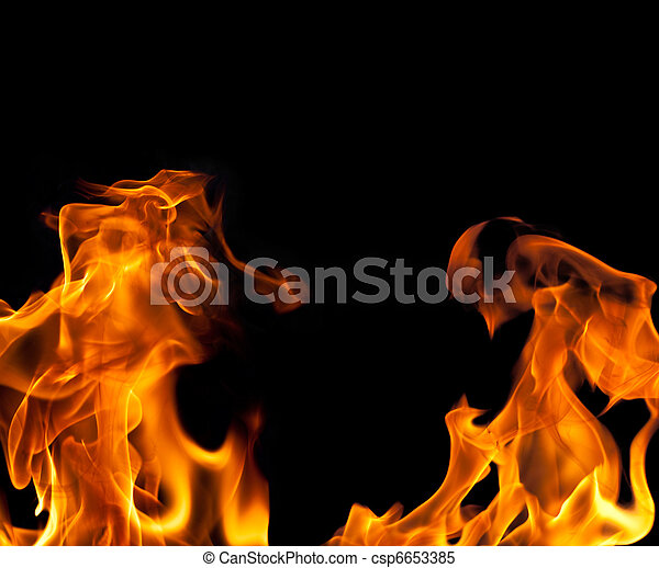 Fire Flame Border Background - csp6653385