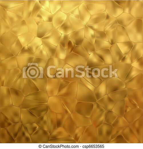 Glow gold mosaic background. EPS 8 - csp6653565