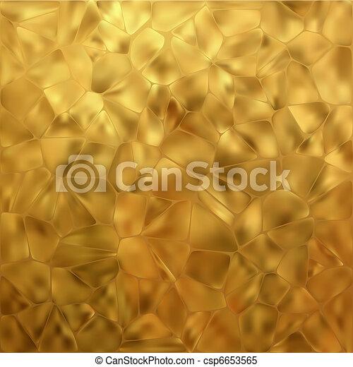 Glow gold mosaic background. EPS 8 - csp6653565