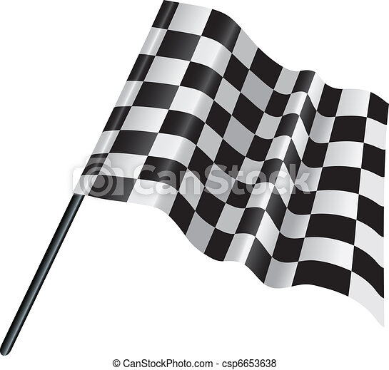 checkered, chequered motor racing flag - csp6653638