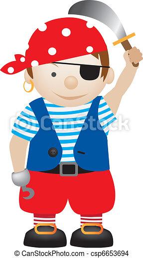 pirat, rysunek - csp6653694
