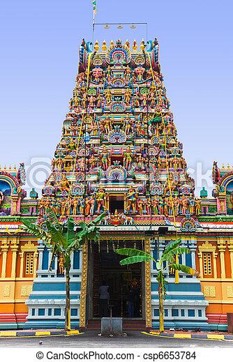 Hindu temple at Kuala Lumpur Malaysia - csp6653784