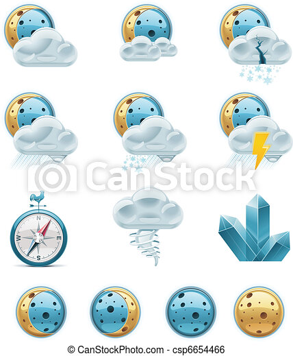 Vector weather forecast icons. P.2 - csp6654466