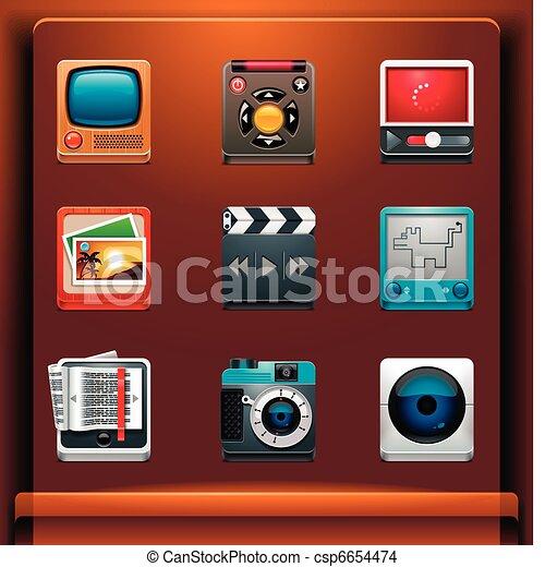 Multimedia icons - csp6654474