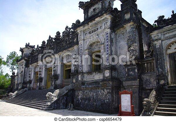 Tomb of King Khai Dinh - csp6654479