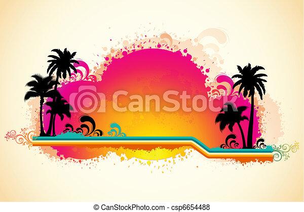 Grungy Sea Beach View - csp6654488