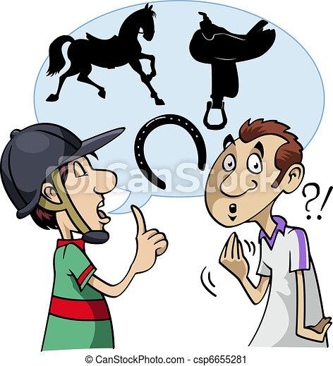 Equestrian slang - csp6655281