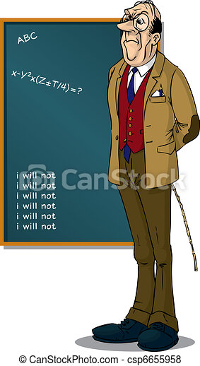School Teacher front of BlackBoard - csp6655958
