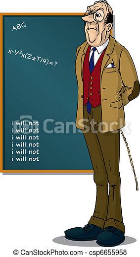 School Teacher front of BlackBoard - csp6655958