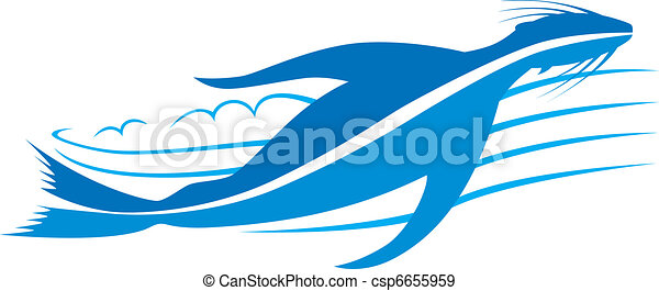 Seal design, splashing through wate - csp6655959