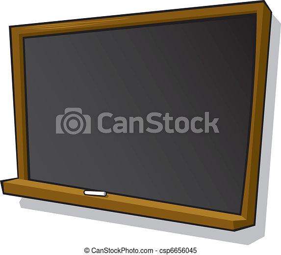 Cartoon Blackboard and chalk - csp6656045