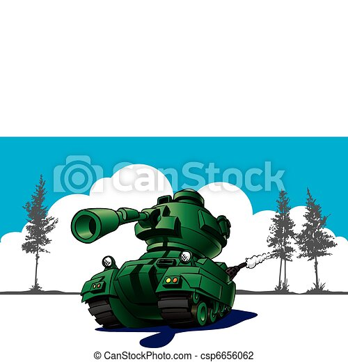 Cartoon tank in wargames - csp6656062