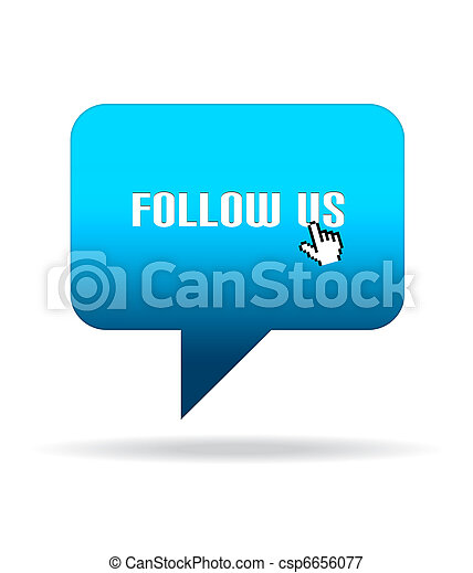 Follow Us Speech Bubble - csp6656077
