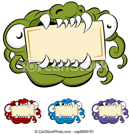 Monster Mouth Drawing Monster Mouth Sign