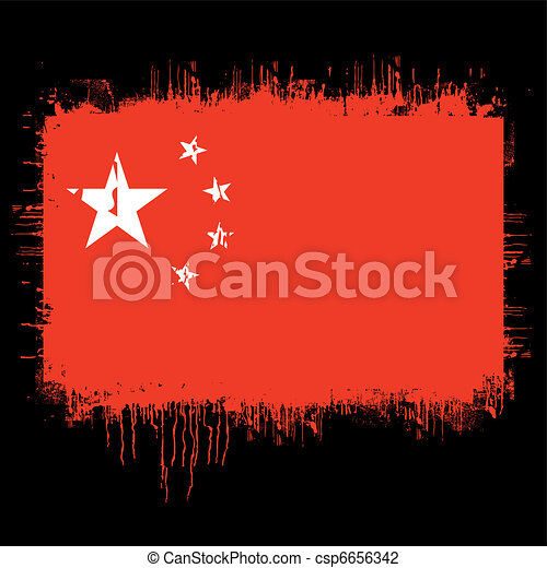 flag of china  - csp6656342