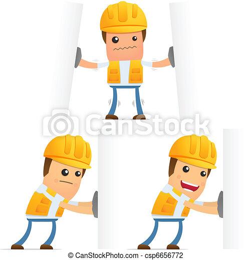 set of funny cartoon builder - csp6656772