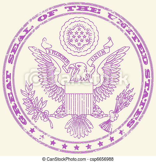 Great seal of the United States sta - csp6656988