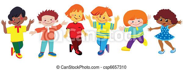 Happy children. - csp6657310