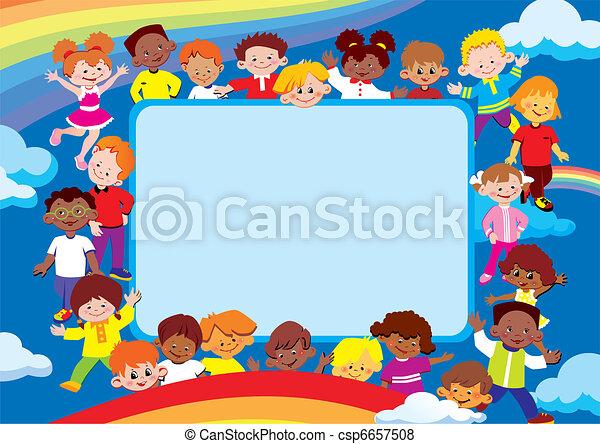 Kids frame. - csp6657508