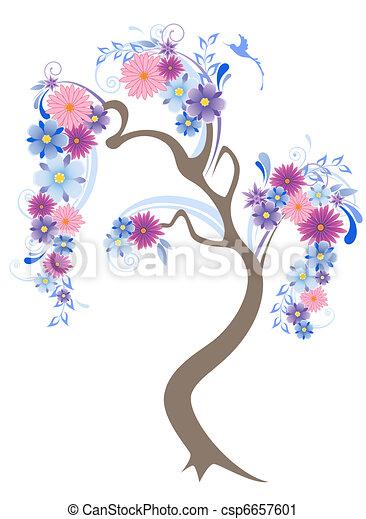 Flowering Tree - csp6657601