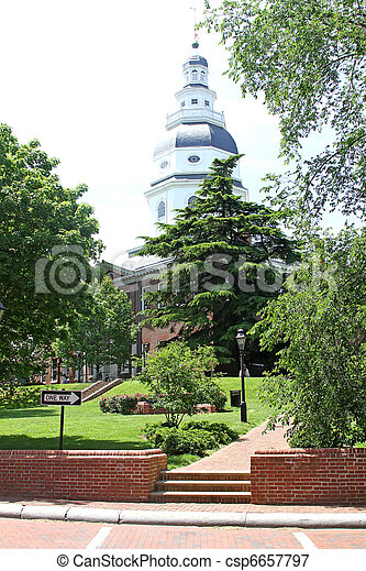 Maryland Capitol, Annapolis, MD1 - csp6657797