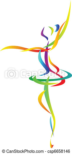 abstract ballet dancer - csp6658146