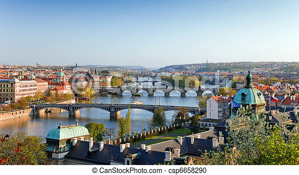 Prague Bridges  - csp6658290