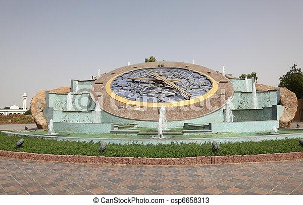 Stock photos of roundabout clock in al ain abu dhabi for Diwan roundabout al ain