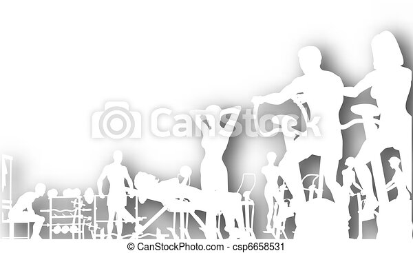 Gym cutout - csp6658531