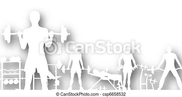 Gymnasium cutout - csp6658532