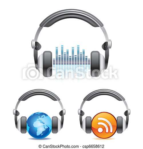 headphones icon - csp6658612